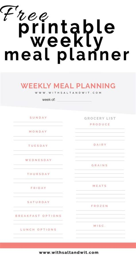 the skinnytaste meal planner revised edition track and plan your meals week by week books free printable weekly meal planner with grocery list