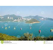 Cable Car At Ocean Park Hong Kong Stock Image