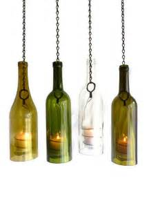 Wine Glass Holder Chandelier Glass Wine Bottle Candle Holder Hanging Hurricane By Bomolutra
