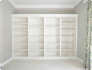 Bookshelves Look Built In How To Make Ikea Bookcases Look Built In Applepins