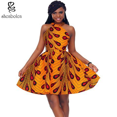 shenbolen  african dress  women african batik print