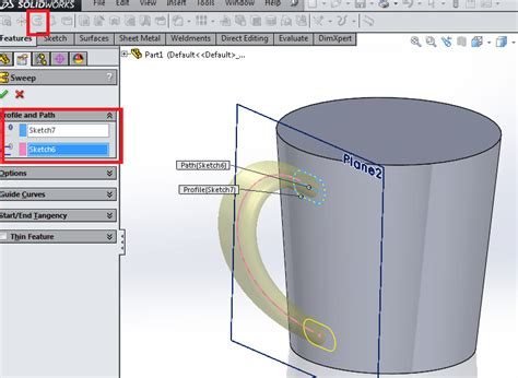 sketch pattern along curve solidworks create a coffee cup using revolve and sweep in solidworks