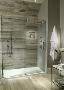 mti low profile threshold shower base contemporary bathroom