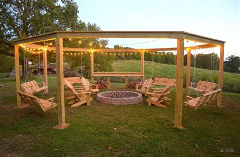 diy backyard swing diy backyard fire pit with swing seats