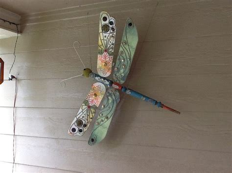 Ceiling Fan Dragonfly by Ceiling Fan Blades Fan Blade Dragonfly Blades Dragonflies Ceiling Fans Upcycled Ceilings