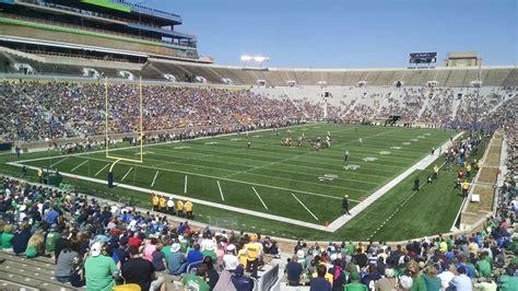 section 16 sec notre dame stadium section 16 rateyourseats com