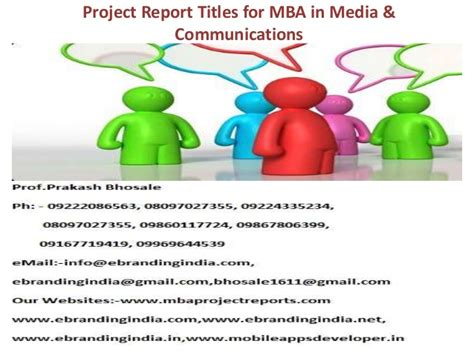 Mba In Communication And Media by Project Report Titles For Mba In Media Communications