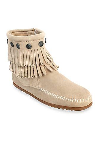 belk fringe boots minnetonka fringe side zip boots belk