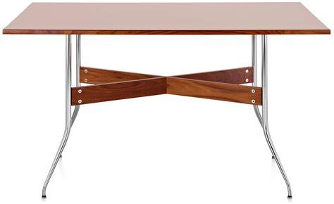 nelson swag leg desk nelson swag leg rectangular dining hivemodern com