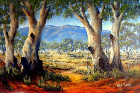 Landscape Paintings Australia Gums South Australia On Canvas 47 X 32cm