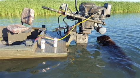 gator trax boat with prodrive gator trax duck boat w 36 hp pro drive mud motor gator