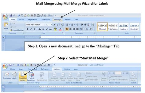 merge sections in word 1 word mail merge wizard cs 121 computer applications