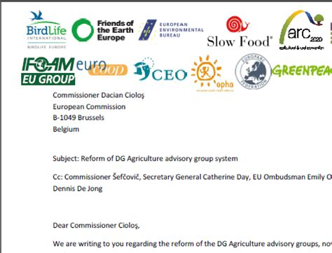 Commitment Letter For Ngo Ngo Open Letter To Commissioner Ciolo陌 Agricultural And Rural Convention