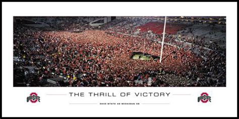 The Thrill Of Victory ohio state buckeyes wood mounted poster print the thrill of victory osu vs mi 2006 osu