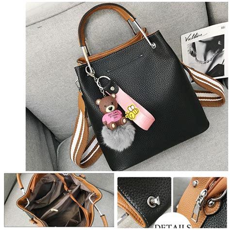 O5102 Black Brown Tas Import Termurah Batam jual b963 blackbrown tas serut cantik elegan 2 color grosirimpor