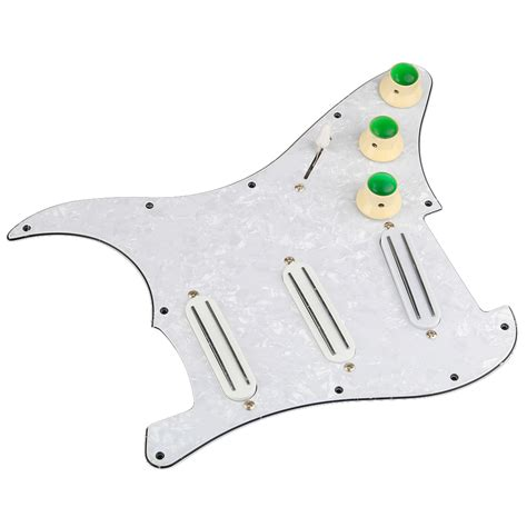 Dijamin Guitar Humbacker Rails Blade Black dual rail blade loaded pickguard humbucker for strat guitar 1set ebay