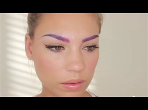 colored eyebrows colored eyebrows pink and purple ombre