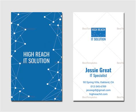 information technology business card template 29 high quality creative unique business cards design