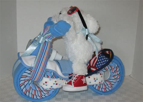 baby shower gift for boys motorcycle bike cake baby shower gift centerpiece