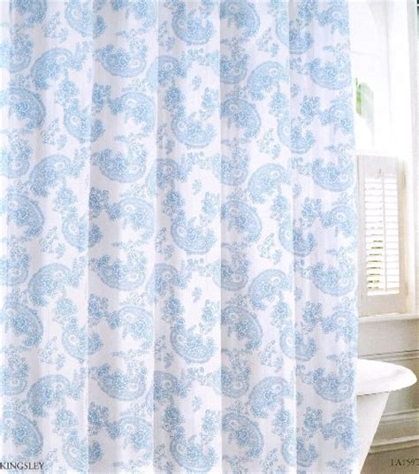 laura ashley blue curtains laura ashley blue and white floral paisley fabric shower