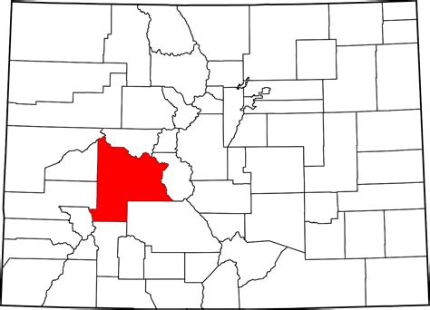 map of colorado highlighting denver county gunnison county wikidata