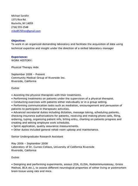 physical therapy resume resumess franklinfire co