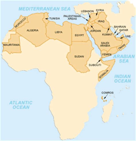 arab league map arabic language information resources