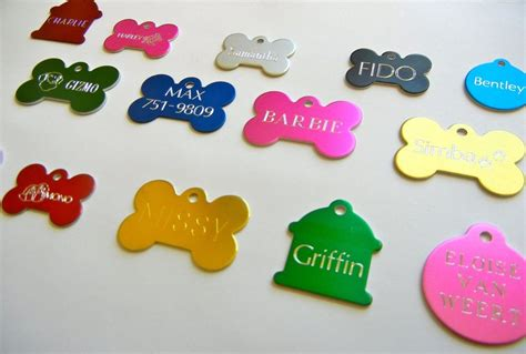 engraved id tags custom engraved pet tag sided personalized id cat charm tags ebay
