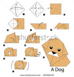 How To Make A Origami Puppy - stock photos images pictures