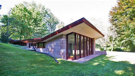 Two Story House Designs Restored Frank Lloyd Wright Usonian On The Market In Mi