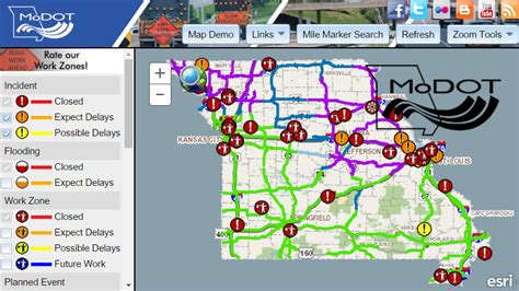 modot road conditions map modot traveler information i st joseph mo
