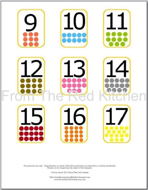 small printable number flashcards the red kitchen for the love of learning 1 2 price