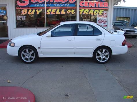 white nissan 2004 2004 cloud white nissan sentra se r spec v 21351993