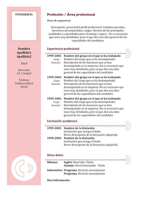 Modelo Curriculum Ganador curriculum vitae modelo3a granate modelo curriculum