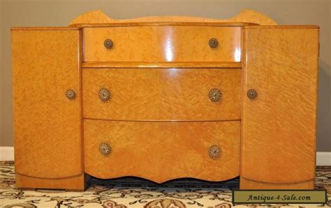 Vintage Chest Of Drawers For Sale by Vintage Deco Birds Eye Maple Dresser Dressing Table