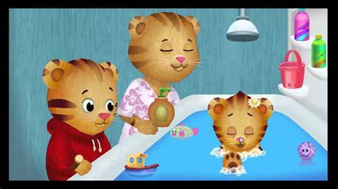 daniel tiger bathroom song daniel tiger s neighborhood games bath time helper youtube