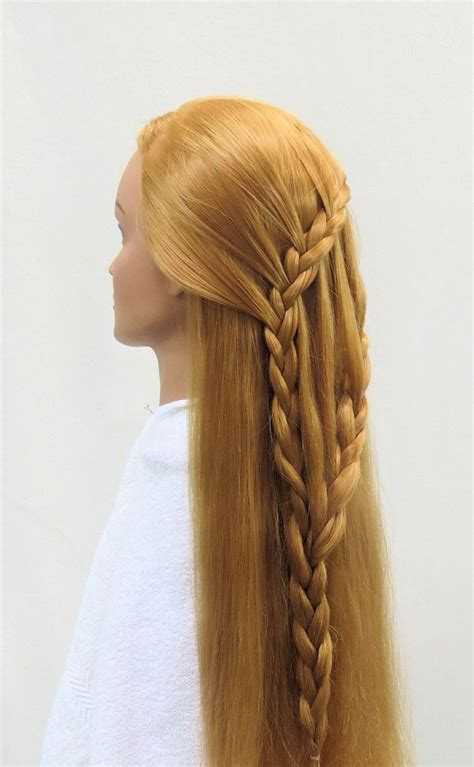 how to feather braid side view feather waterfall into ladder braid braid