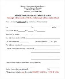 High School Transcript Request Template by Doc 495647 Transcript Request Form Transcript Request
