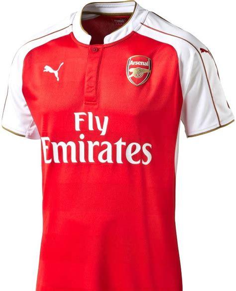 Arsenal Prematch Jersey Merah Garis 2015 parade jersey baru klub eropa