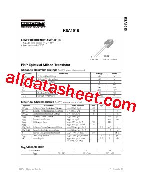 a1015 transistor application a1015 datasheet pdf fairchild semiconductor