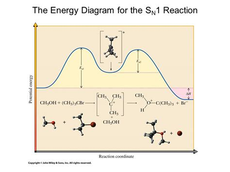 sn1 energy diagram structure of haloalkanes ppt