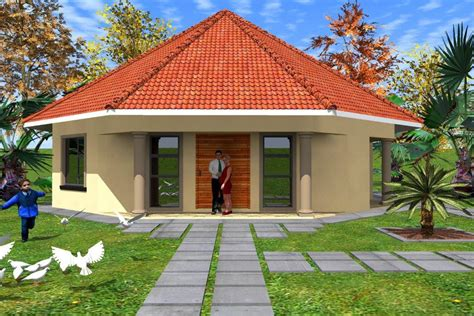 image of houses design free rondavel house plans home deco plans