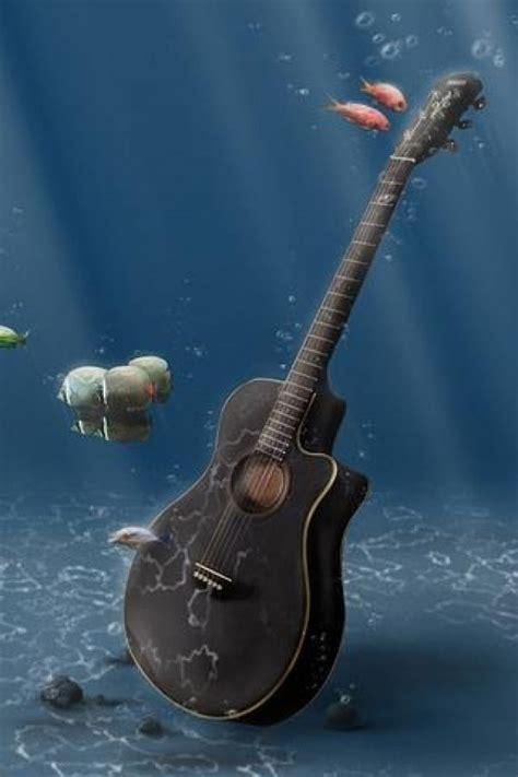 wallpaper iphone 5 guitar 海底吉他 壁纸 频道图片