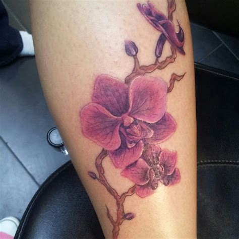 orchid tattoo black and grey black and grey tribal orchid tattoo on leg