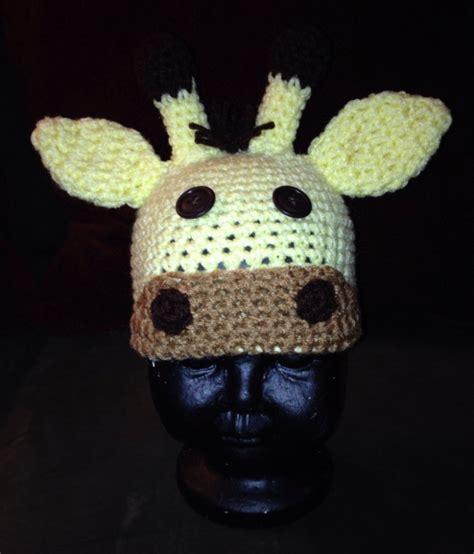 Handmade Crochet Hats - crochet giraffe hat all sizes 2legit2knitcrochet