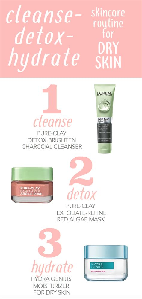 detoxify and brighten charcoal cleanser for dull skin l or 233 al 3 step cleanse detox hydrate routine featuring l oreal clays cleanse with the