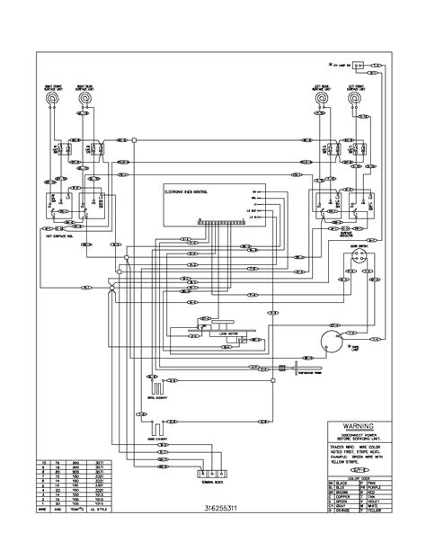 electric stove wiring diagram frigidaire fef366ccb electric range timer stove clocks