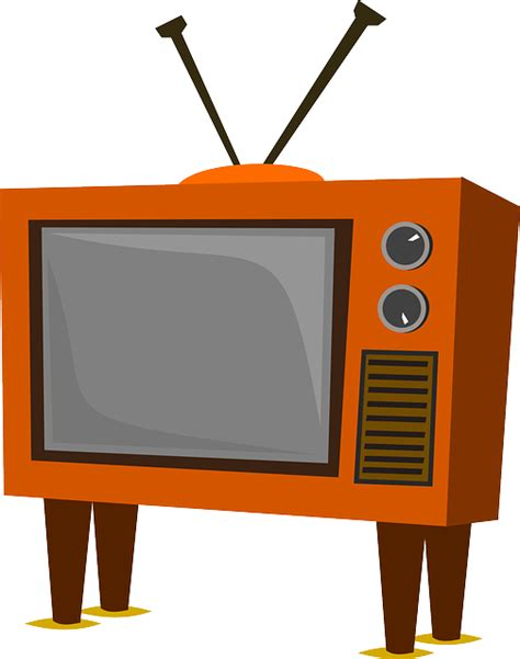 television clip free vector graphic television tv funky furniture
