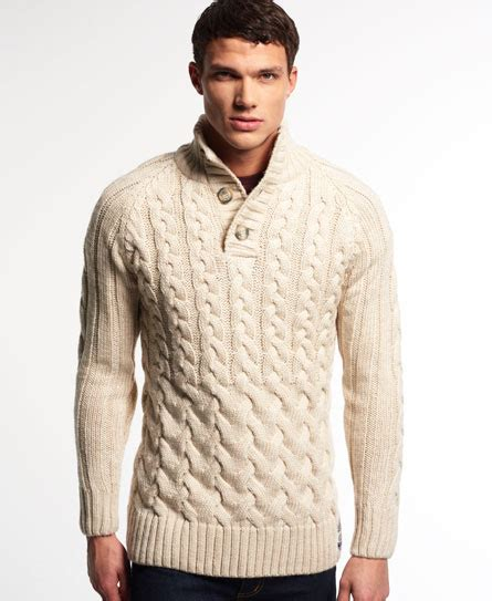 knitting pattern henley sweater superdry ultimate cable henley sweater men s sweaters