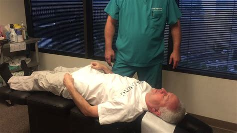 hiatal hernia patient  ring dinger manual spinal decompression technique youtube